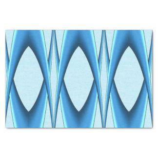 Futuristic Blue Arch Tissue Paper