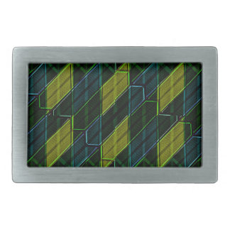 Futuristic Dark Pattern Rectangular Belt Buckle