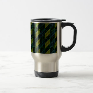 Futuristic Dark Pattern Travel Mug