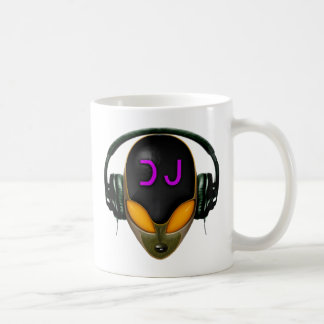 Futuristic DJ with Headphones - Orange Style Coffee Mug