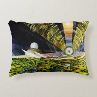 Futuristic! Double-Sided! Space Colony! Amazing! Decorative Pillow