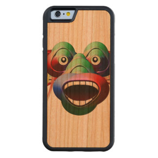 Futuristic Funny Monster Character Face Carved Cherry iPhone 6 Bumper Case