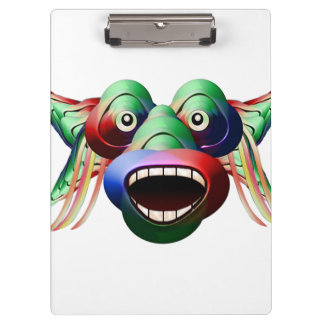 Futuristic Funny Monster Character Face Clipboard