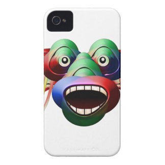 Futuristic Funny Monster Character Face iPhone 4 Cases