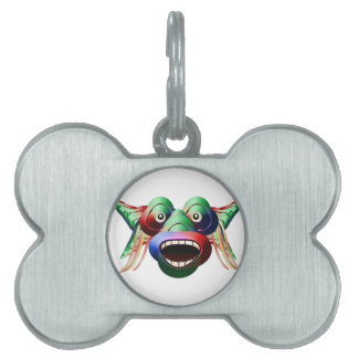 Futuristic Funny Monster Character Face Pet ID Tag