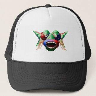 Futuristic Funny Monster Character Face Trucker Hat