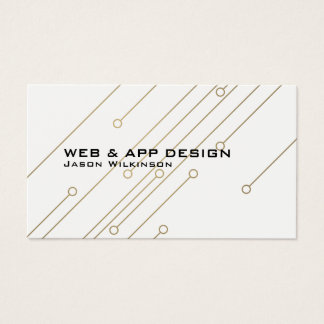 Futuristic geometric abstract art tech inspired business card