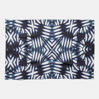 Futuristic Geometric Print Kitchen Towel