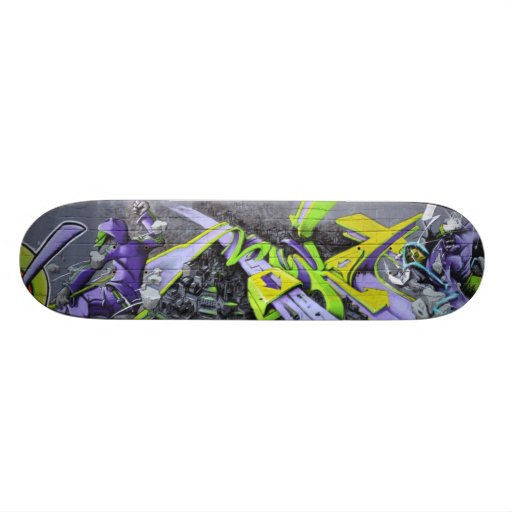 Futuristic graffiti - skate boards