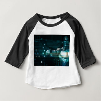 Futuristic Interface with Android Robot User Baby T-Shirt