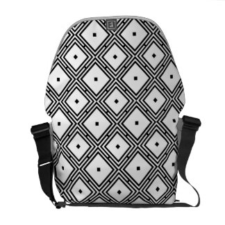Futuristic Line Pattern Courier Bags