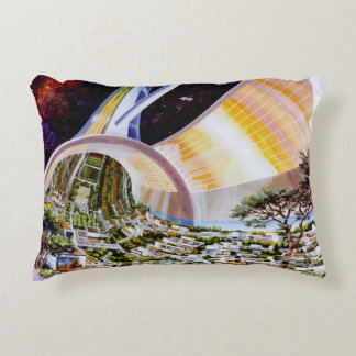 Futuristic Living Space Colony Pillow
