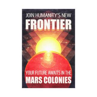 Futuristic Mars Colonization Canvas Print