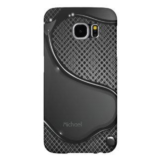Futuristic Metal Abstract Black Liquid Samsung Galaxy S6 Cases