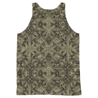 Futuristic Polygonal All-Over-Print Tank Top