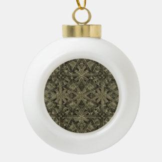 Futuristic Polygonal Ceramic Ball Christmas Ornament