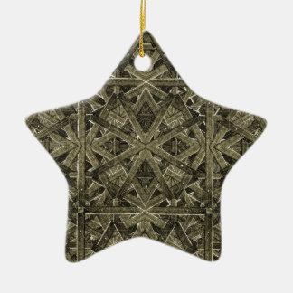 Futuristic Polygonal Ceramic Ornament