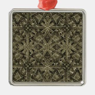 Futuristic Polygonal Metal Ornament