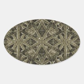 Futuristic Polygonal Oval Sticker