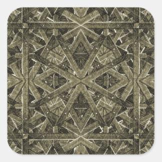 Futuristic Polygonal Square Sticker