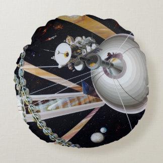 Futuristic Space Colony Artwork Pillow