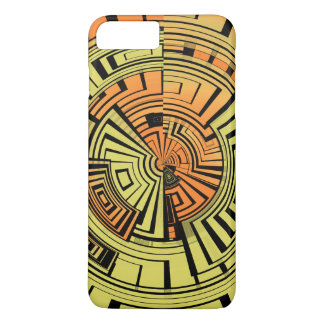 Futuristic technology abstract iPhone 7 plus case