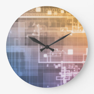 Futuristic Technology as a Next Generation Art Large Clock