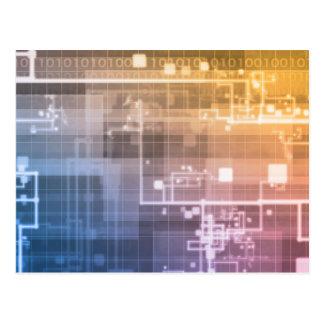 Futuristic Technology as a Next Generation Art Postcard