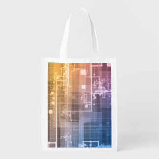 Futuristic Technology as a Next Generation Art Reusable Grocery Bag