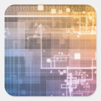 Futuristic Technology as a Next Generation Art Square Sticker