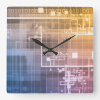 Futuristic Technology as a Next Generation Art Square Wall Clock