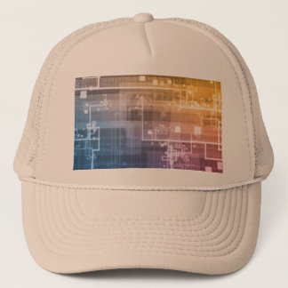 Futuristic Technology as a Next Generation Art Trucker Hat
