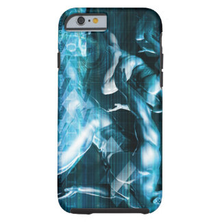Futuristic Technology Background and Visual Data Tough iPhone 6 Case