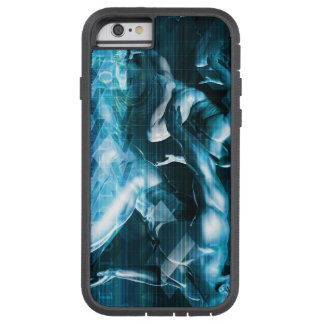 Futuristic Technology Background and Visual Data Tough Xtreme iPhone 6 Case