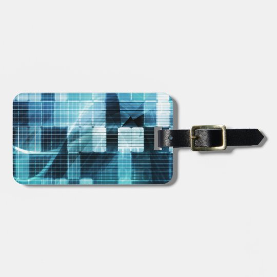 Futuristic Technology Luggage Tag