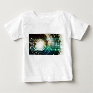 Futuristic Technology Portal with Digital Baby T-Shirt