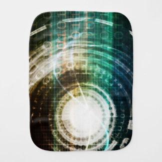 Futuristic Technology Portal with Digital Burp Cloth