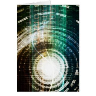 Futuristic Technology Portal with Digital Card