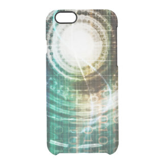 Futuristic Technology Portal with Digital Clear iPhone 6/6S Case