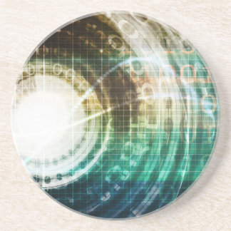 Futuristic Technology Portal with Digital Coaster