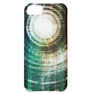 Futuristic Technology Portal with Digital Cover For iPhone 5C