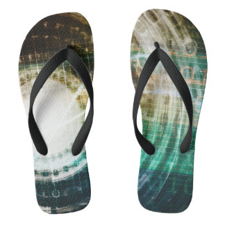 Futuristic Technology Portal with Digital Flip Flops
