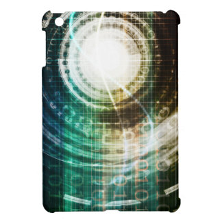 Futuristic Technology Portal with Digital iPad Mini Case