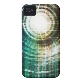 Futuristic Technology Portal with Digital iPhone 4 Cover