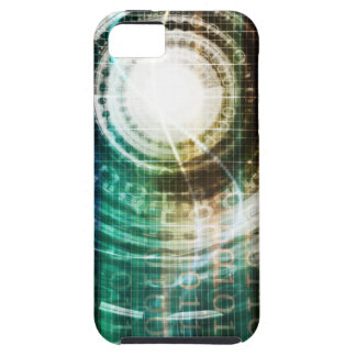 Futuristic Technology Portal with Digital iPhone 5 Covers