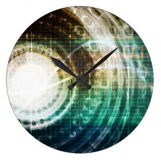 Futuristic Technology Portal with Digital Large Clock