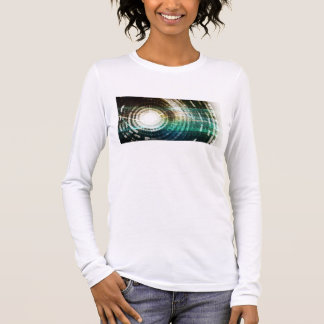 Futuristic Technology Portal with Digital Long Sleeve T-Shirt