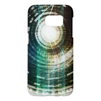Futuristic Technology Portal with Digital Samsung Galaxy S7 Case