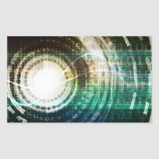 Futuristic Technology Portal with Digital Sticker