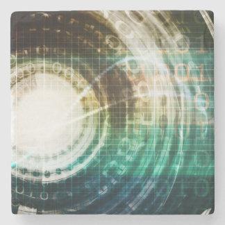 Futuristic Technology Portal with Digital Stone Coaster